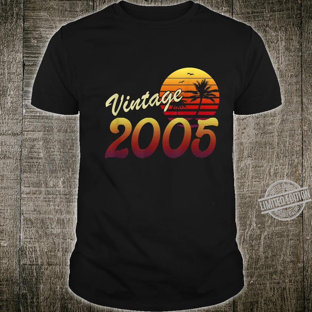 15. Geburtstag 15 Jahre Mann Frau Jahrgang 2005 Geschenk Shirt
