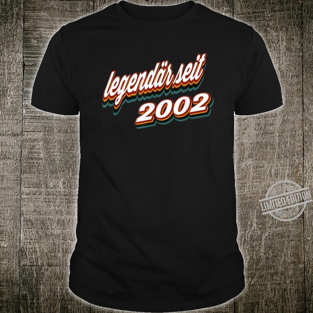 18. Geburtstag Geschenk Vintage Retro Legendär Seit 2002 Shirt