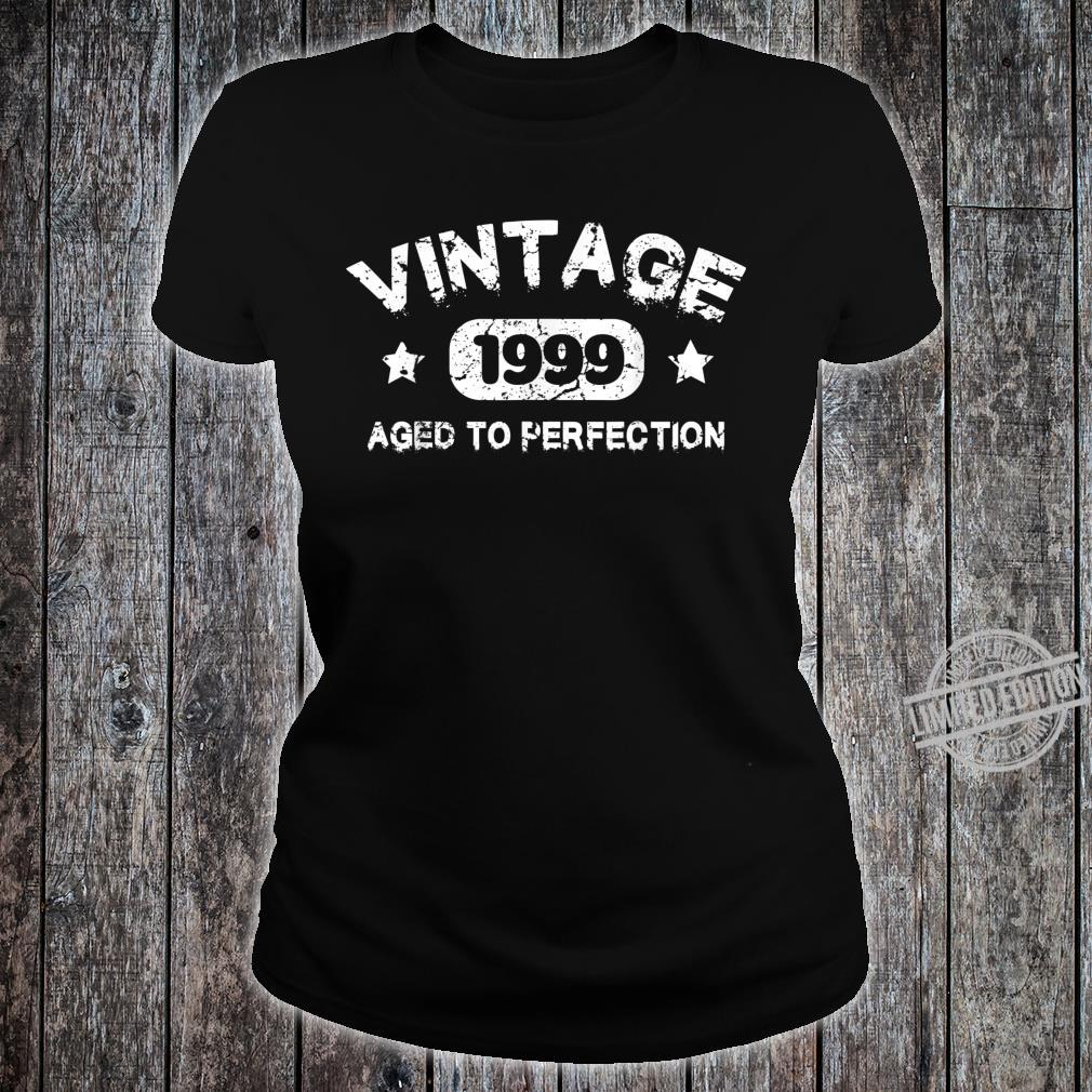 21 Years Old 1999 Vintage 21th Birthday Idea Shirt ladies tee