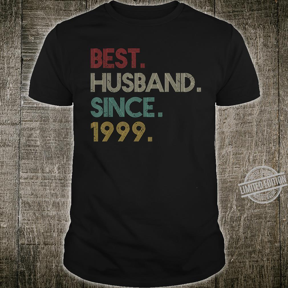 21st Wedding Anniversary Ideas Best Husband Since 1999 Shirt