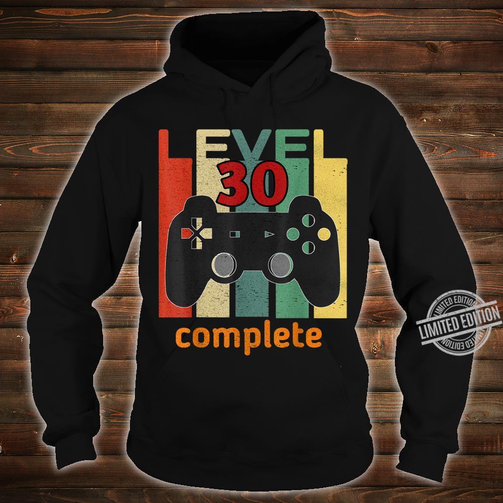 30. Geburtstag Mann Frau 1990 Level 30 Jahre Party Geschenk Shirt hoodie