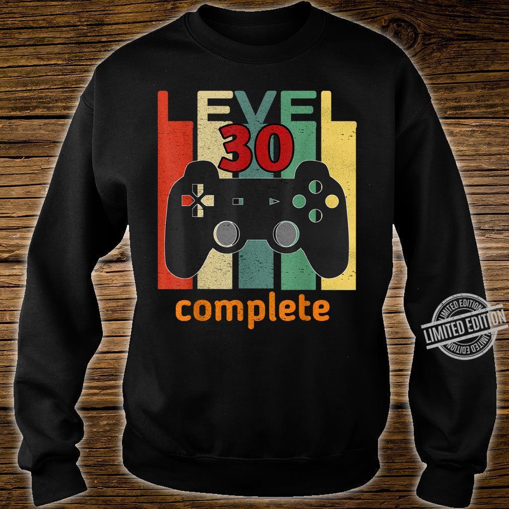30. Geburtstag Mann Frau 1990 Level 30 Jahre Party Geschenk Shirt sweater