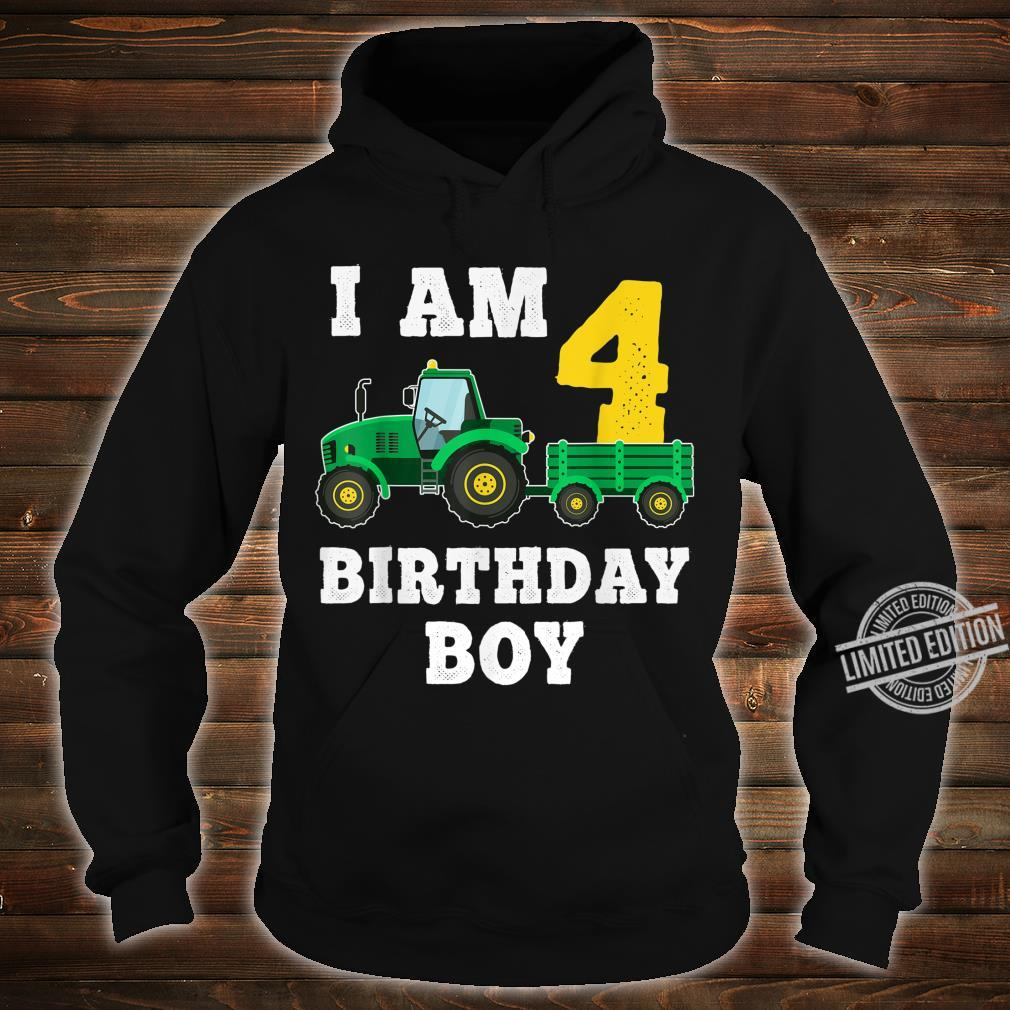 4th Birthday Tractor Shirt For 4 Years Old Farming Shirt hoodie