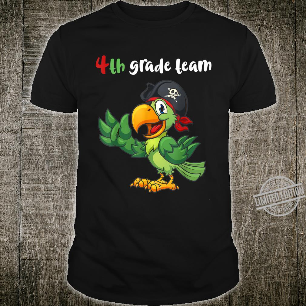 4th Grade Team Fourth Grade Teacher Student Cute Parrot Shirt