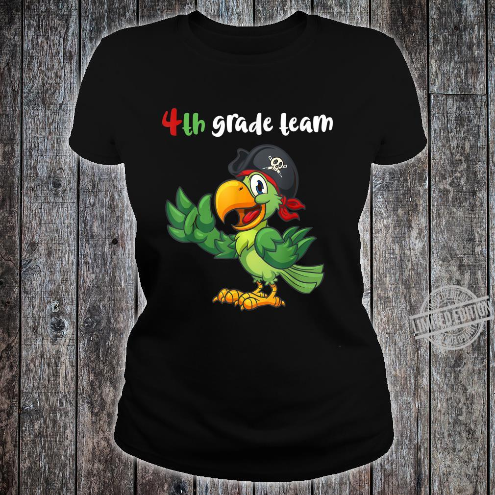 4th Grade Team Fourth Grade Teacher Student Cute Parrot Shirt ladies tee