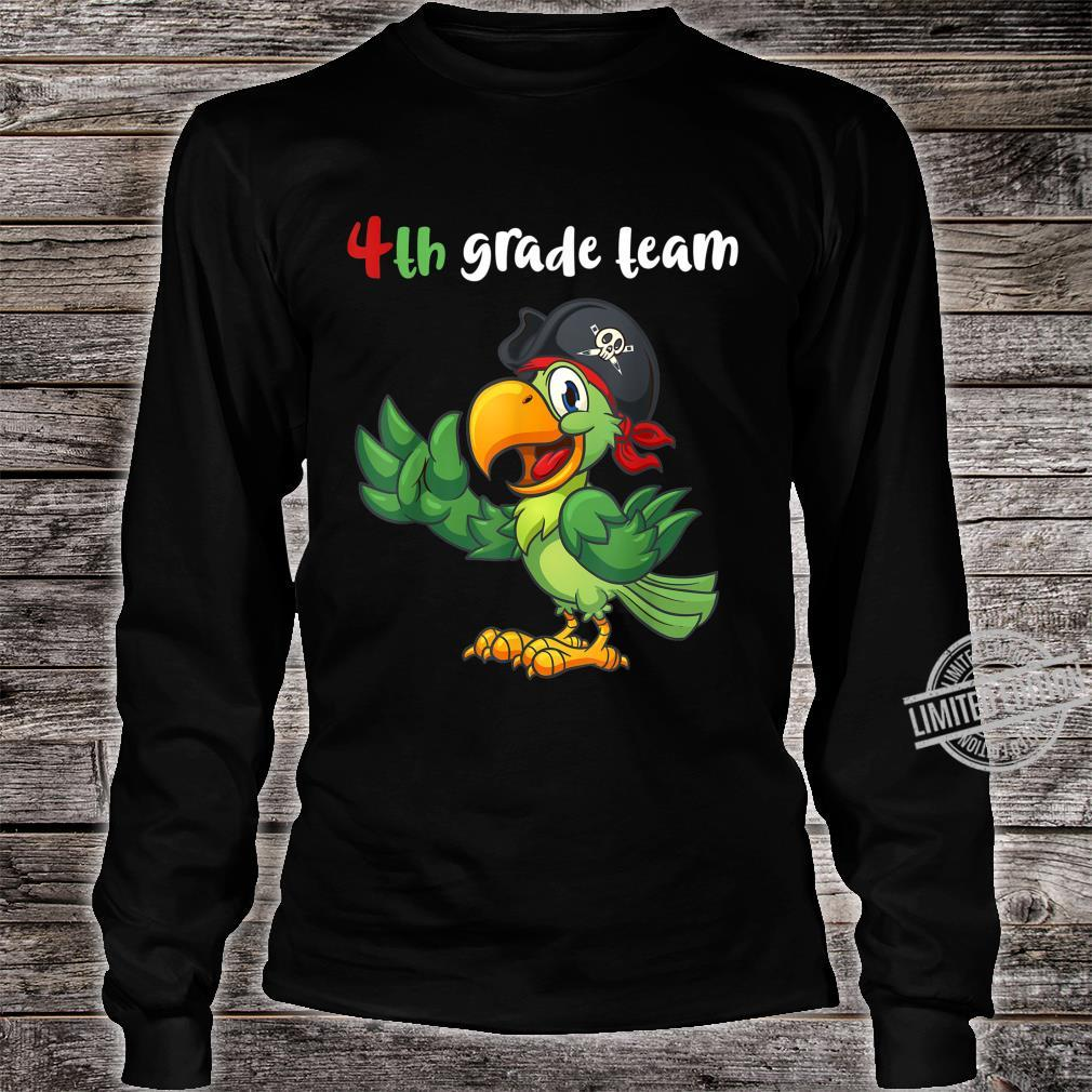 4th Grade Team Fourth Grade Teacher Student Cute Parrot Shirt long sleeved