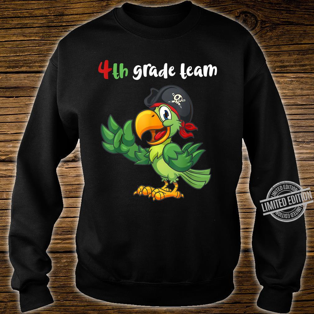 4th Grade Team Fourth Grade Teacher Student Cute Parrot Shirt sweater