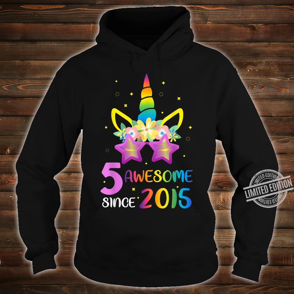 5 Years Old 5th Birthday Unicorn Girl Matching Shirt hoodie