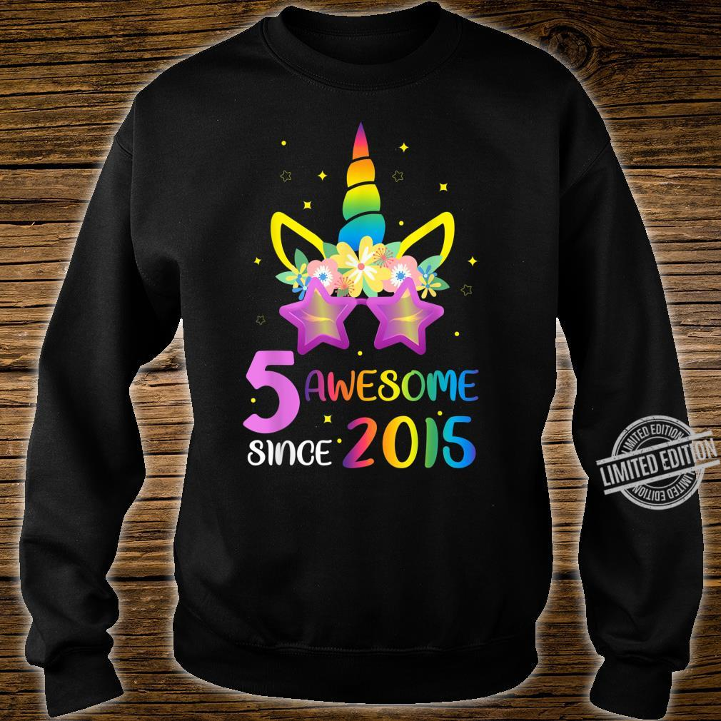 5 Years Old 5th Birthday Unicorn Girl Matching Shirt sweater