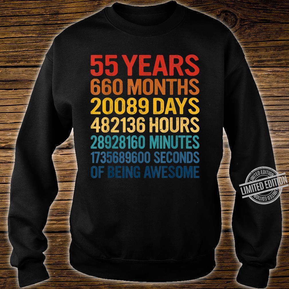 55 Yrs Old 660 Months 55th Birthday Vintage Retro Shirt sweater