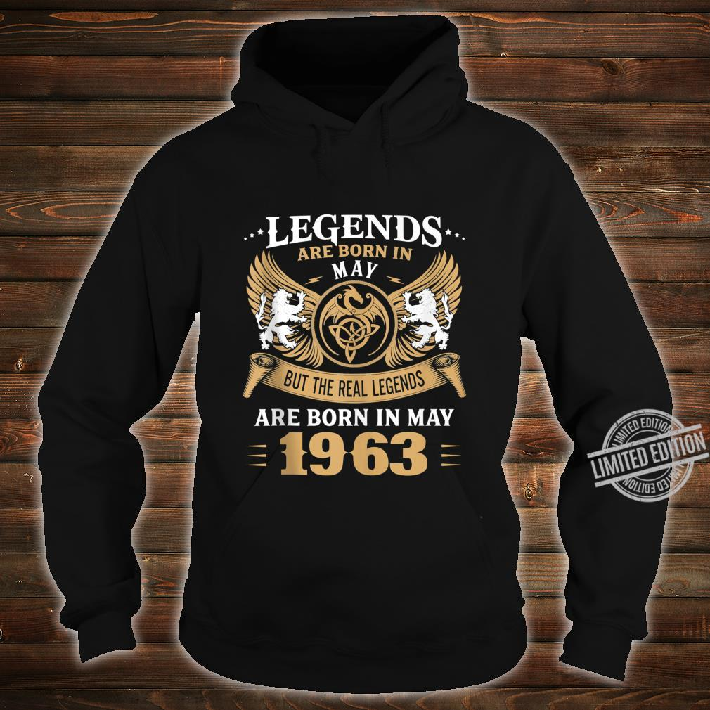 57 Years Old Legends 57th Birthday Born in May 1963 Shirt hoodie