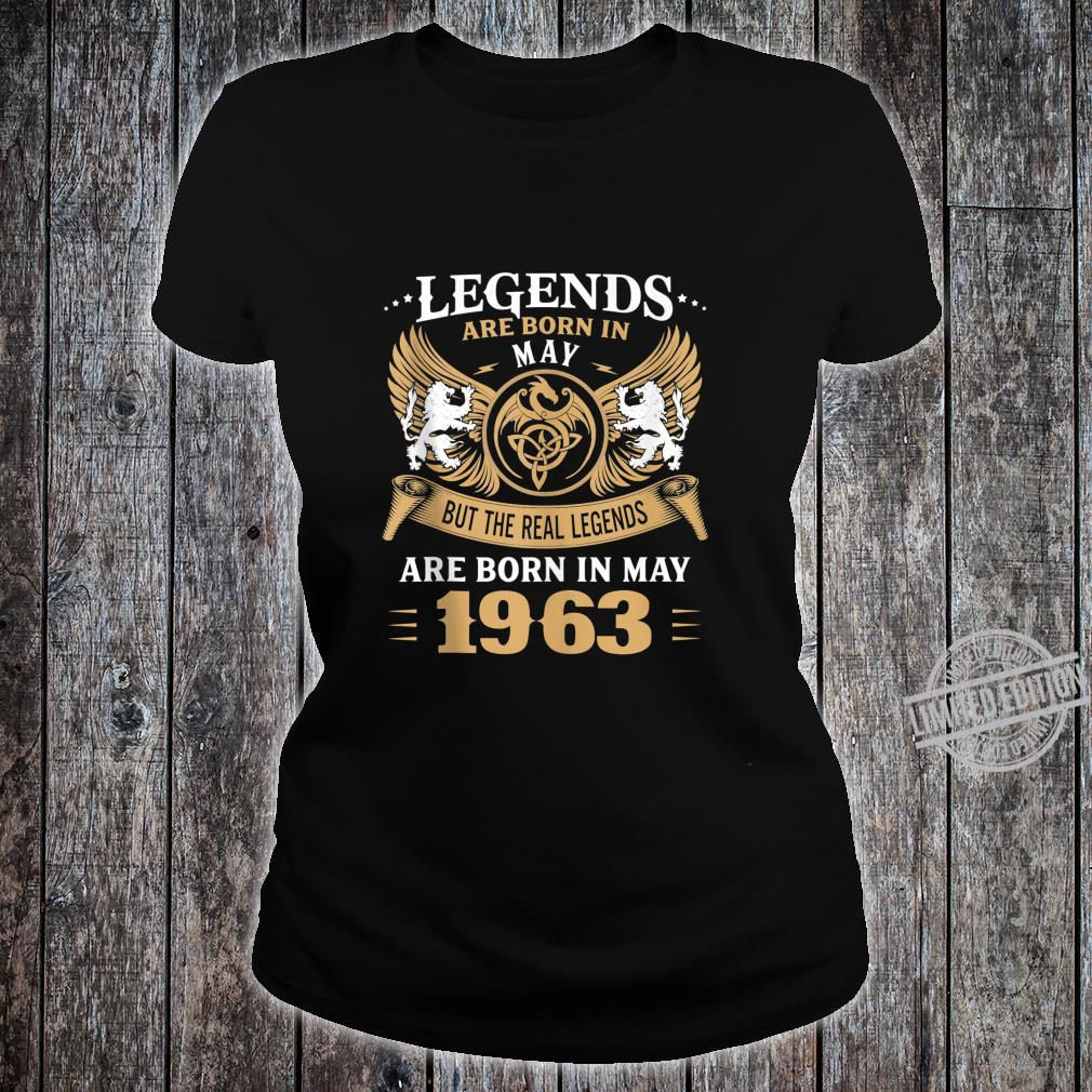 57 Years Old Legends 57th Birthday Born in May 1963 Shirt ladies tee