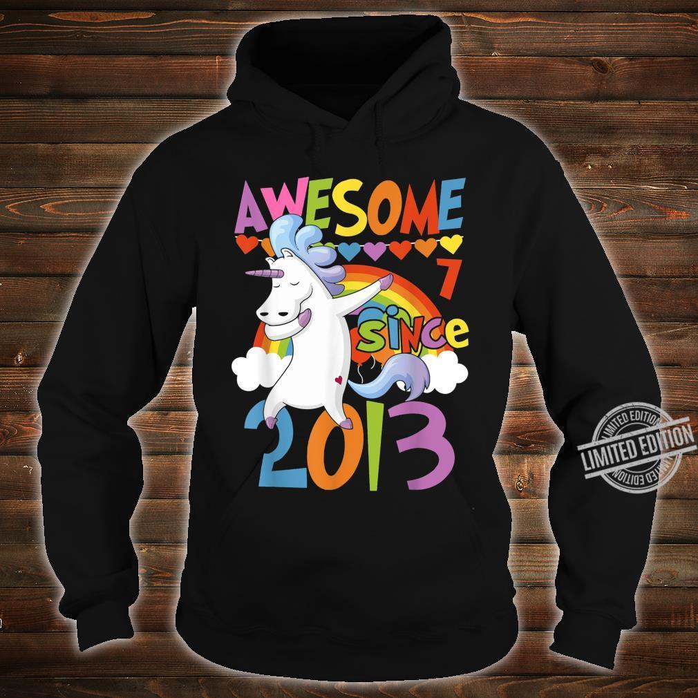 7 Years Old Dabbing Unicorn 7th Birthday Party Girl Shirt hoodie