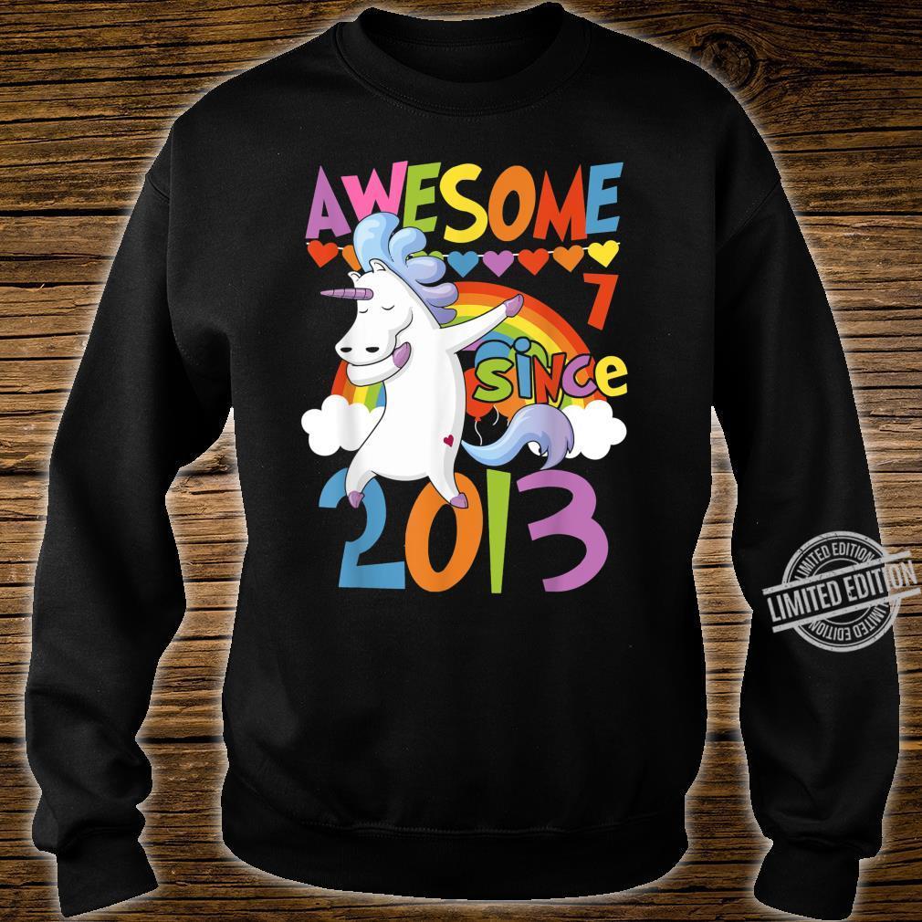 7 Years Old Dabbing Unicorn 7th Birthday Party Girl Shirt sweater