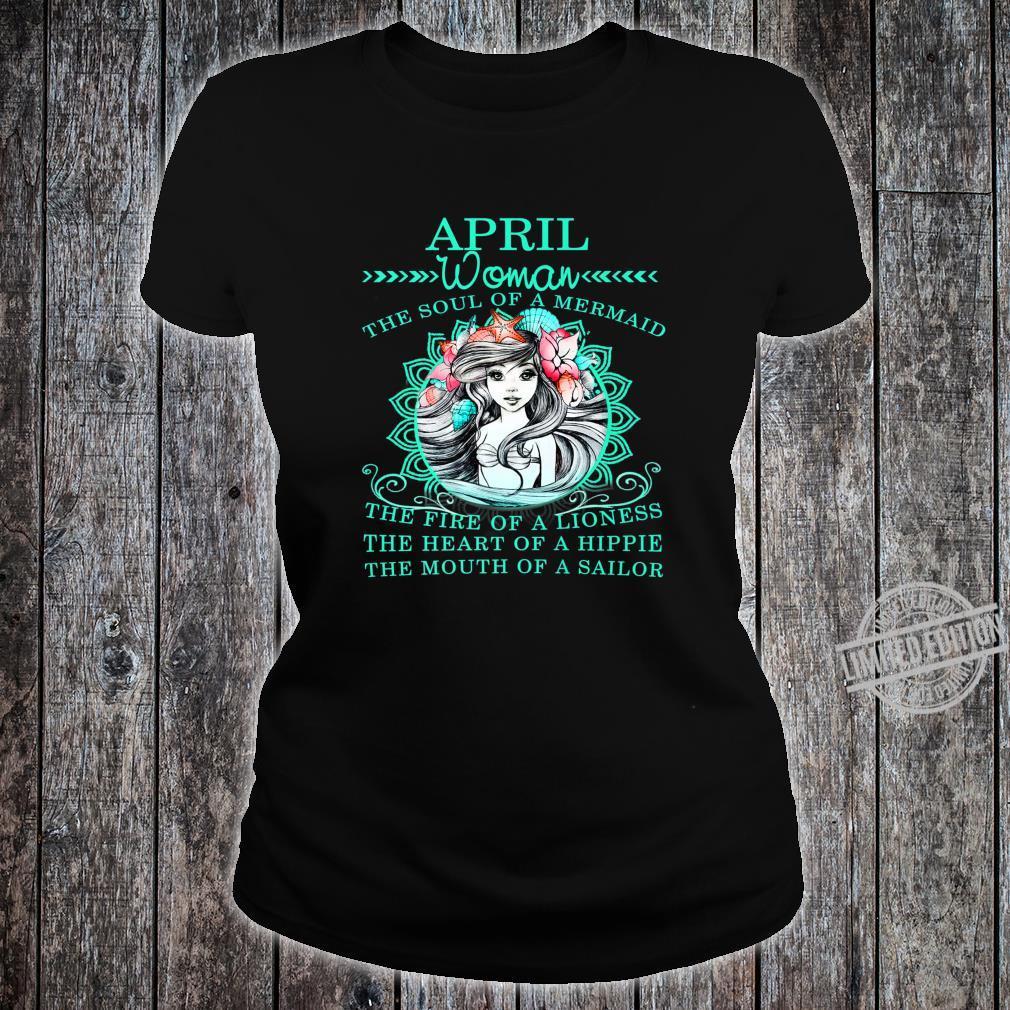 April The Soul Of A Mermaid Birthday Shirt ladies tee