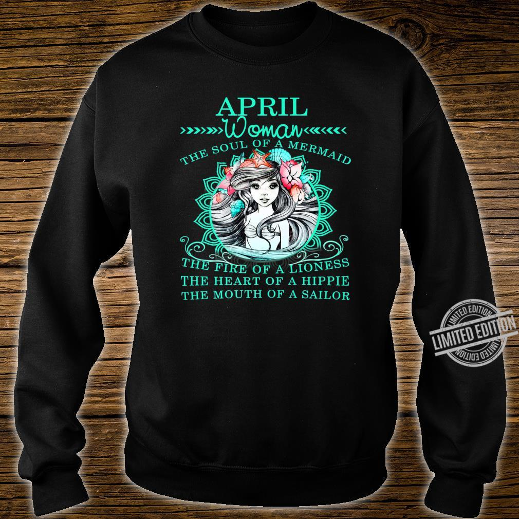 April The Soul Of A Mermaid Birthday Shirt sweater