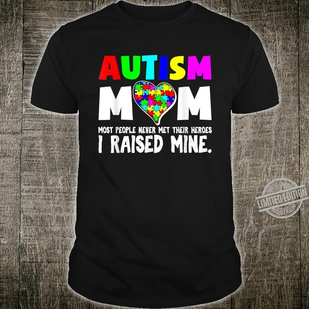 Autism Mom My Son Is My Hero Autism Awareness Puzzle Pieces Shirt