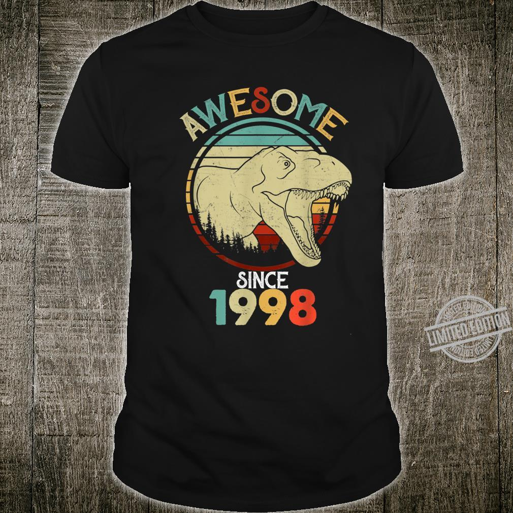 Awesome Since 1998 Birthday Boy RAWR Dinosaur Birthday Shirt