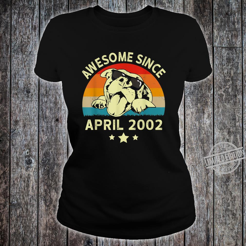 Awesome Since April 2002 18 Years Birthday Shirt ladies tee