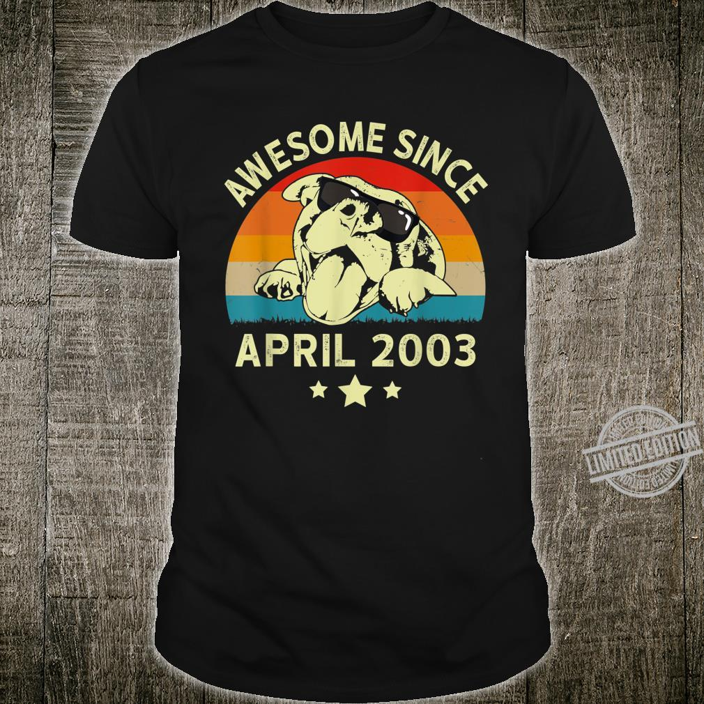 Awesome Since April 2003 17 Years Birthday Shirt