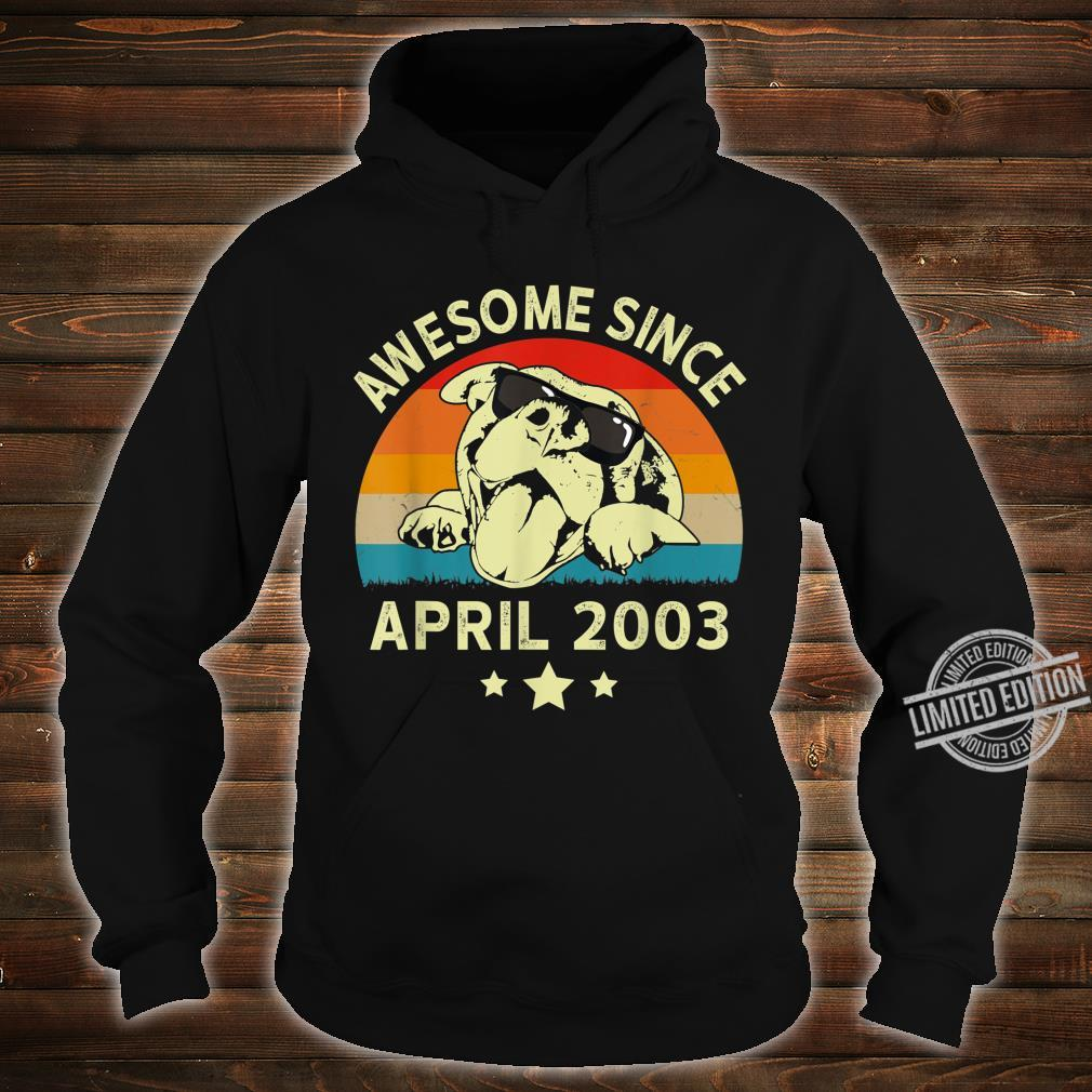 Awesome Since April 2003 17 Years Birthday Shirt hoodie