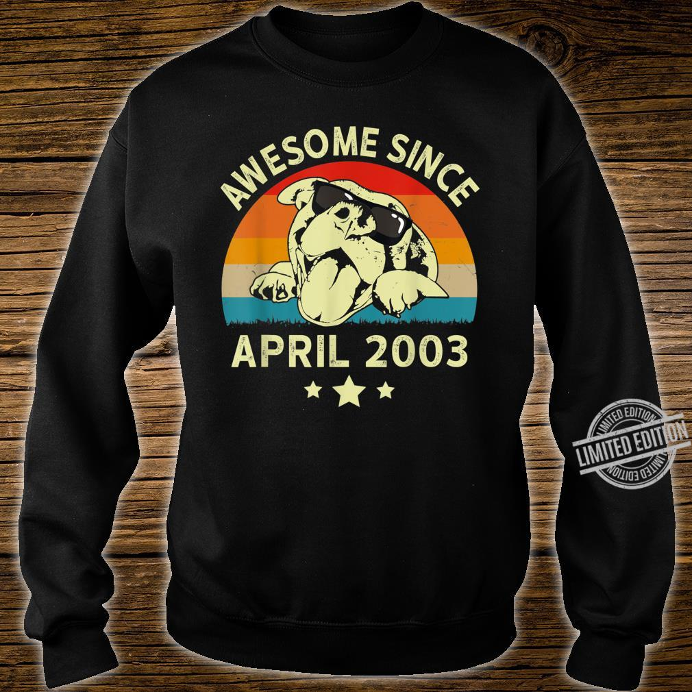 Awesome Since April 2003 17 Years Birthday Shirt sweater