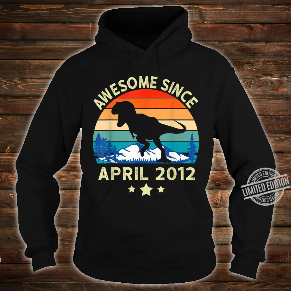 Awesome Since April 2012 8 Years Old Dinosaur Birthday Shirt hoodie