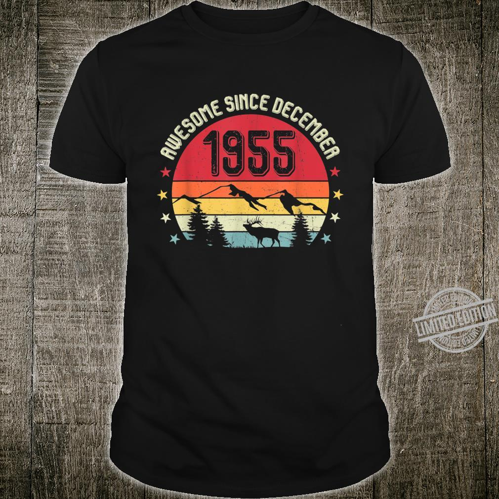 Awesome Since December 1955 Birthday Shirt Vintage Shirt Shirt
