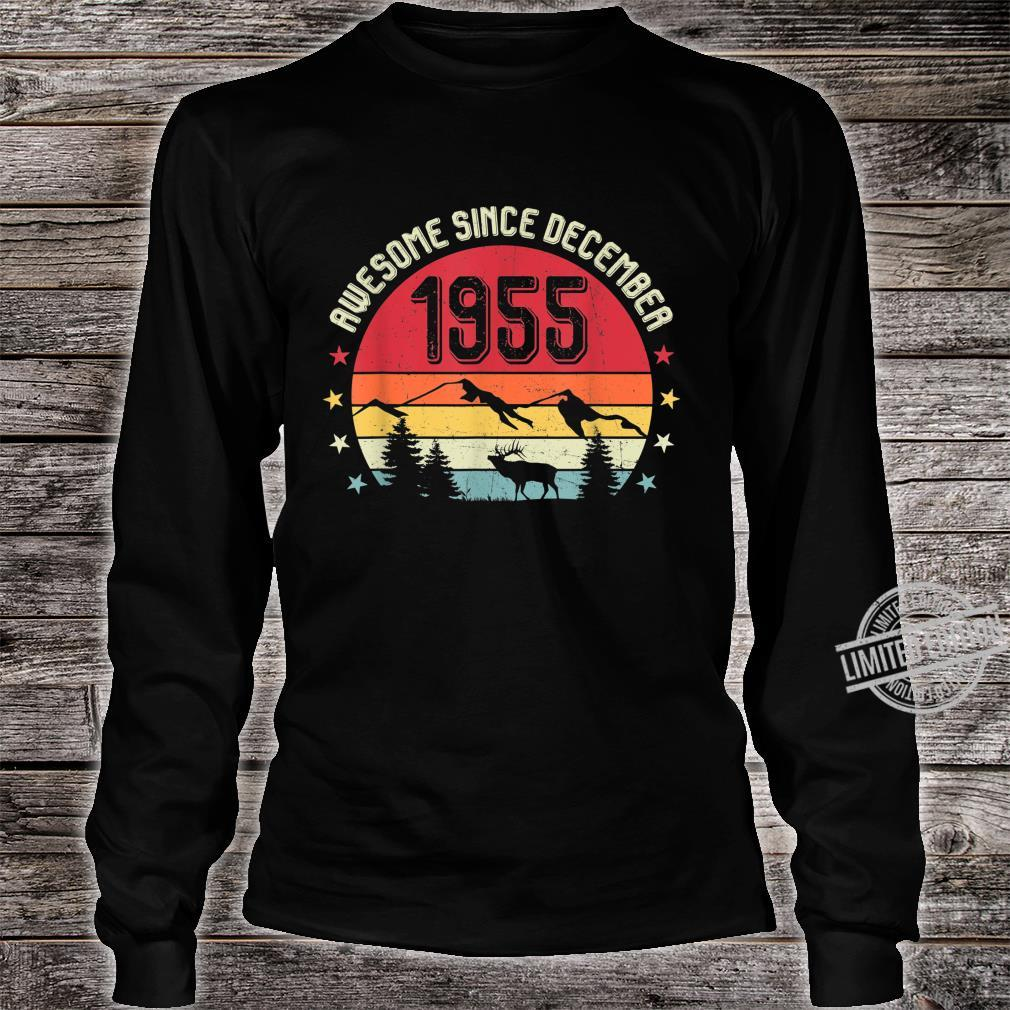 Awesome Since December 1955 Birthday Shirt Vintage Shirt Shirt long sleeved