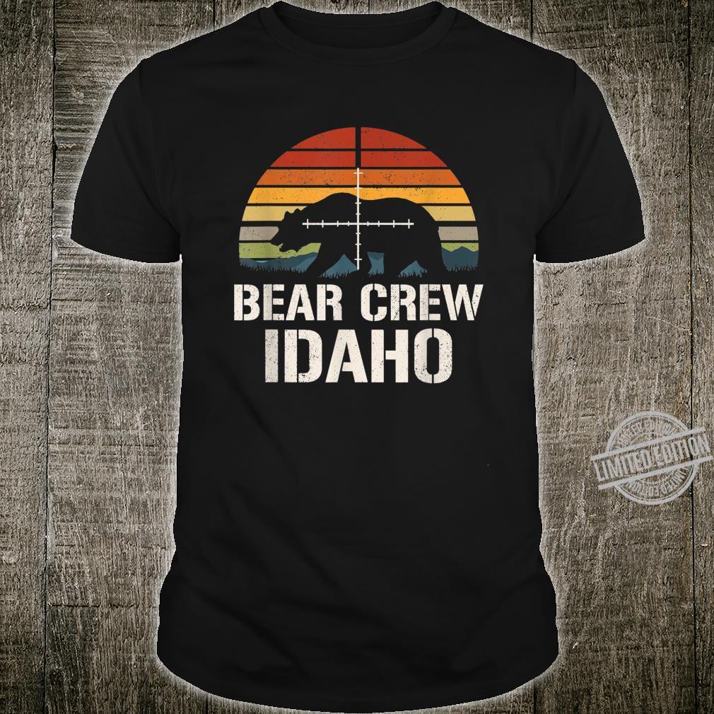 Bear Hunter Vintage Sunset Bear Hunting Group Idaho Shirt