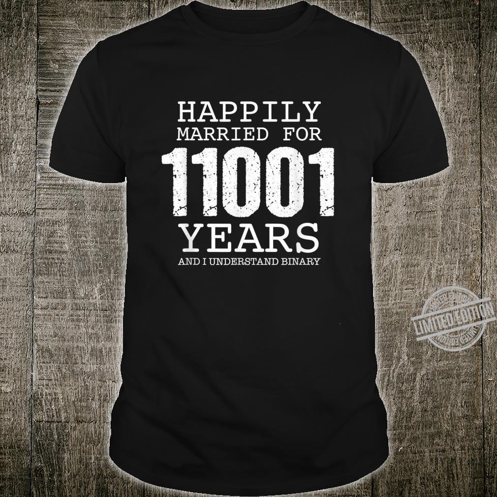 Binary Code Math 25th Wedding Anniversary Matching Idea Shirt