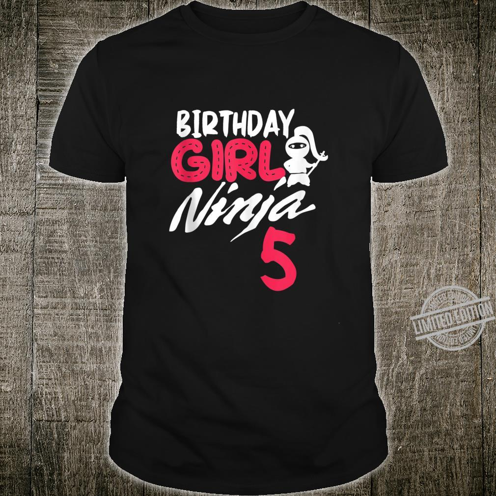 Birthday Girl Ninja 5 birthday party 5 year old ninja bday Shirt