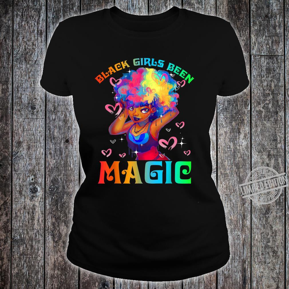 Black Girls Been Magic Black History Month African American Shirt ladies tee