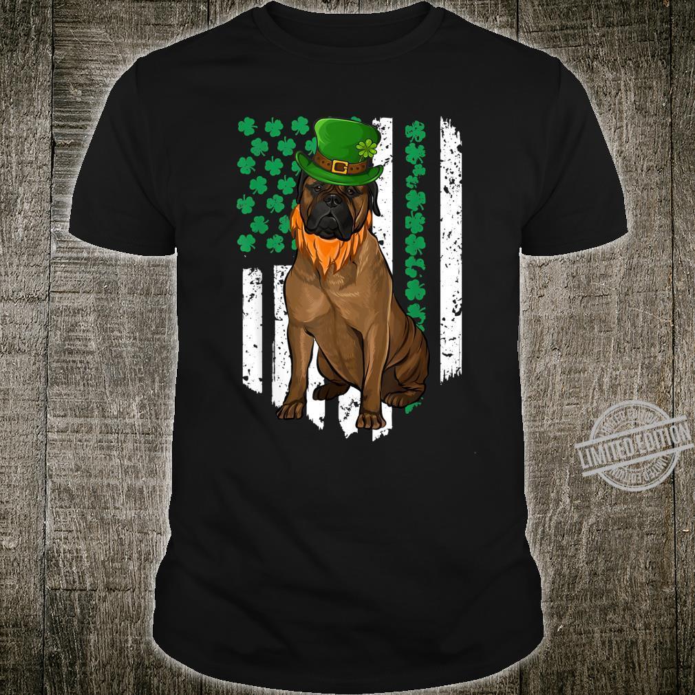Bullmastiff Amerikanische Kleeblatt Flagge St Patricks Day Shirt