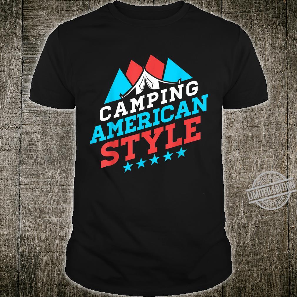 Camping American Style Outdoor Camper Hiker Trekker Shirt