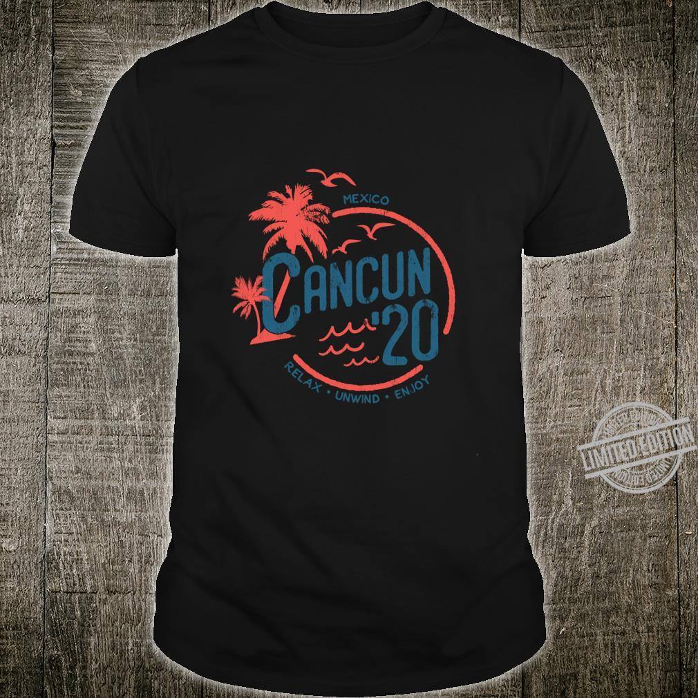 Cancun Mexico 2020 Vintage Spring Break, Holiday, Party Shirt
