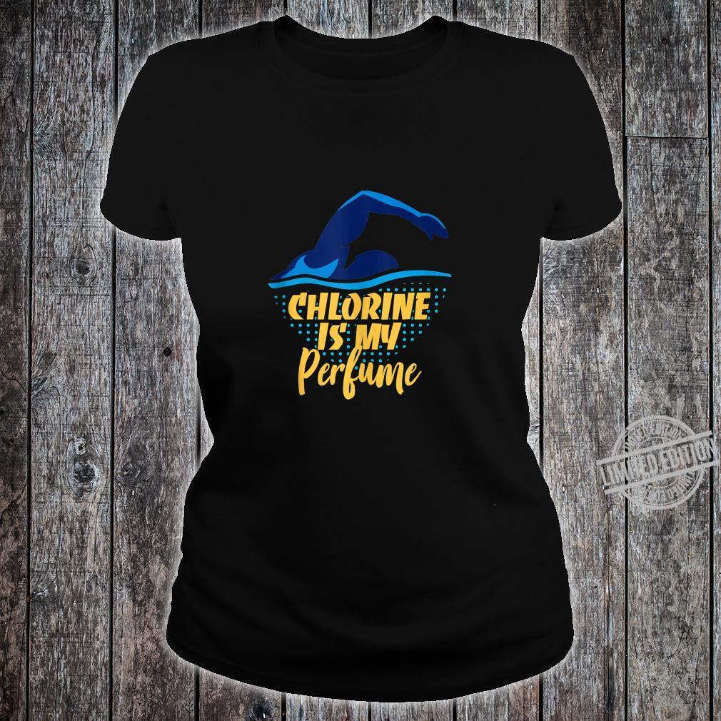 Chlorine Is My Parfume Schwimmerin Geschenk Schwimmen Sweatshirt