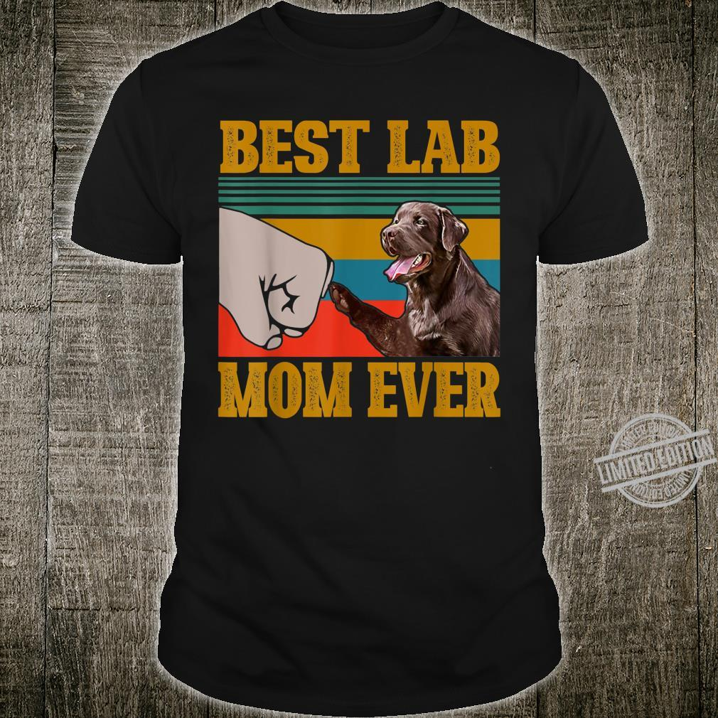 Chocolate Labrador Best Lab Mom Ever Mama Vintage Shirt