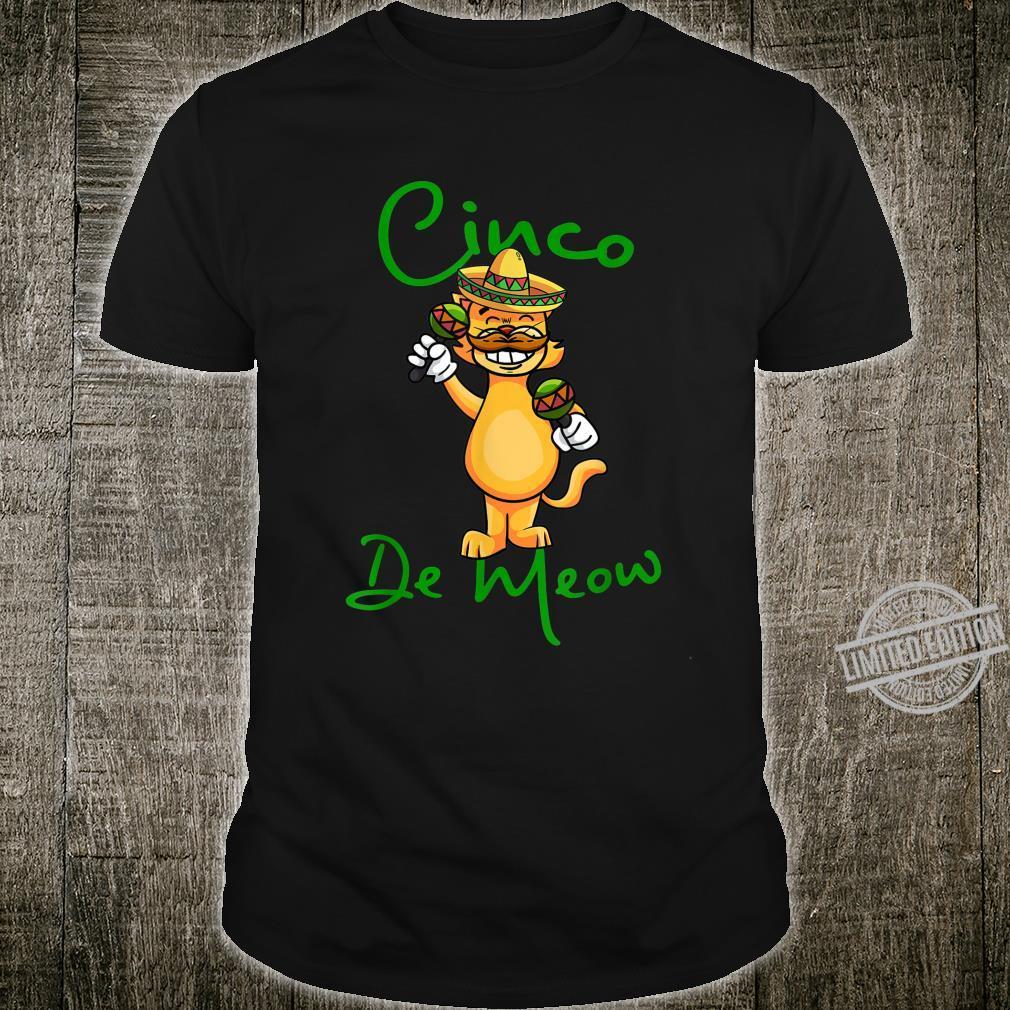 Cinco De Meow Cat Kitten Sombrero Maracas Shirt