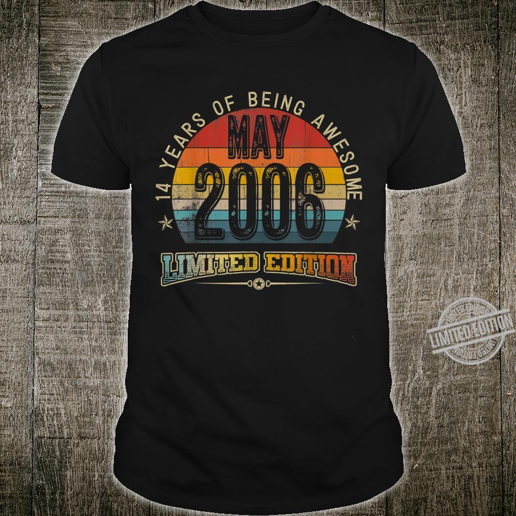 Classic 14th Birthday Vintage May 2006 Shirt