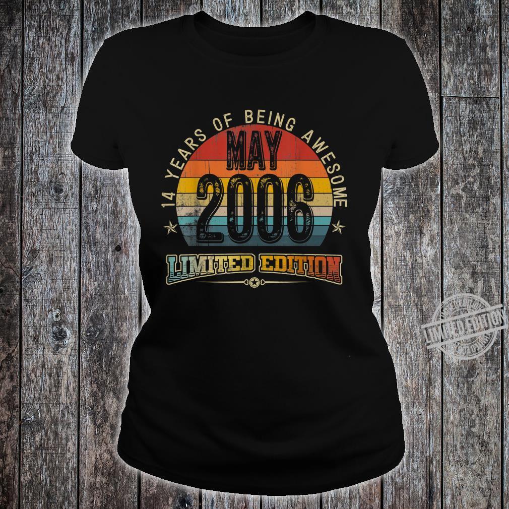 Classic 14th Birthday Vintage May 2006 Shirt ladies tee