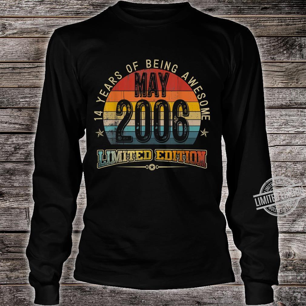 Classic 14th Birthday Vintage May 2006 Shirt long sleeved