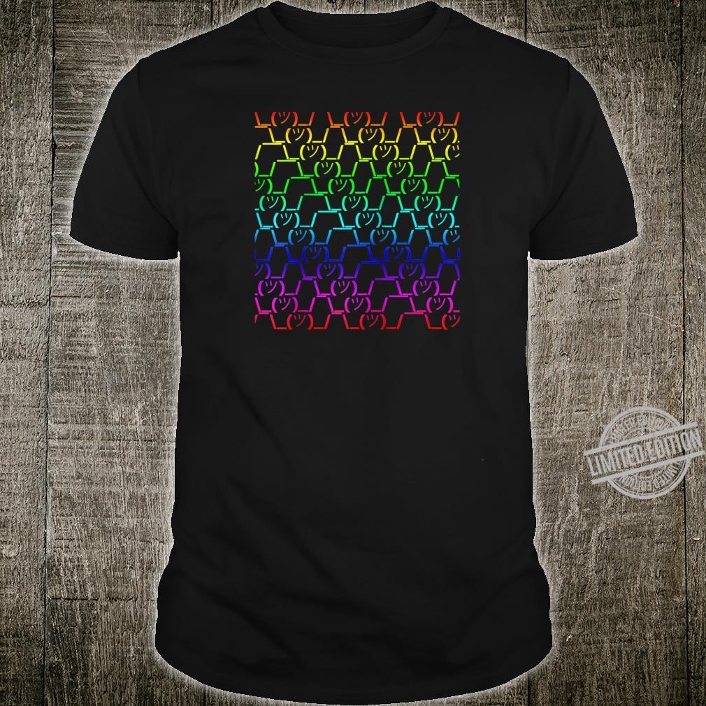 Colourful ASCII Shrug Shirt