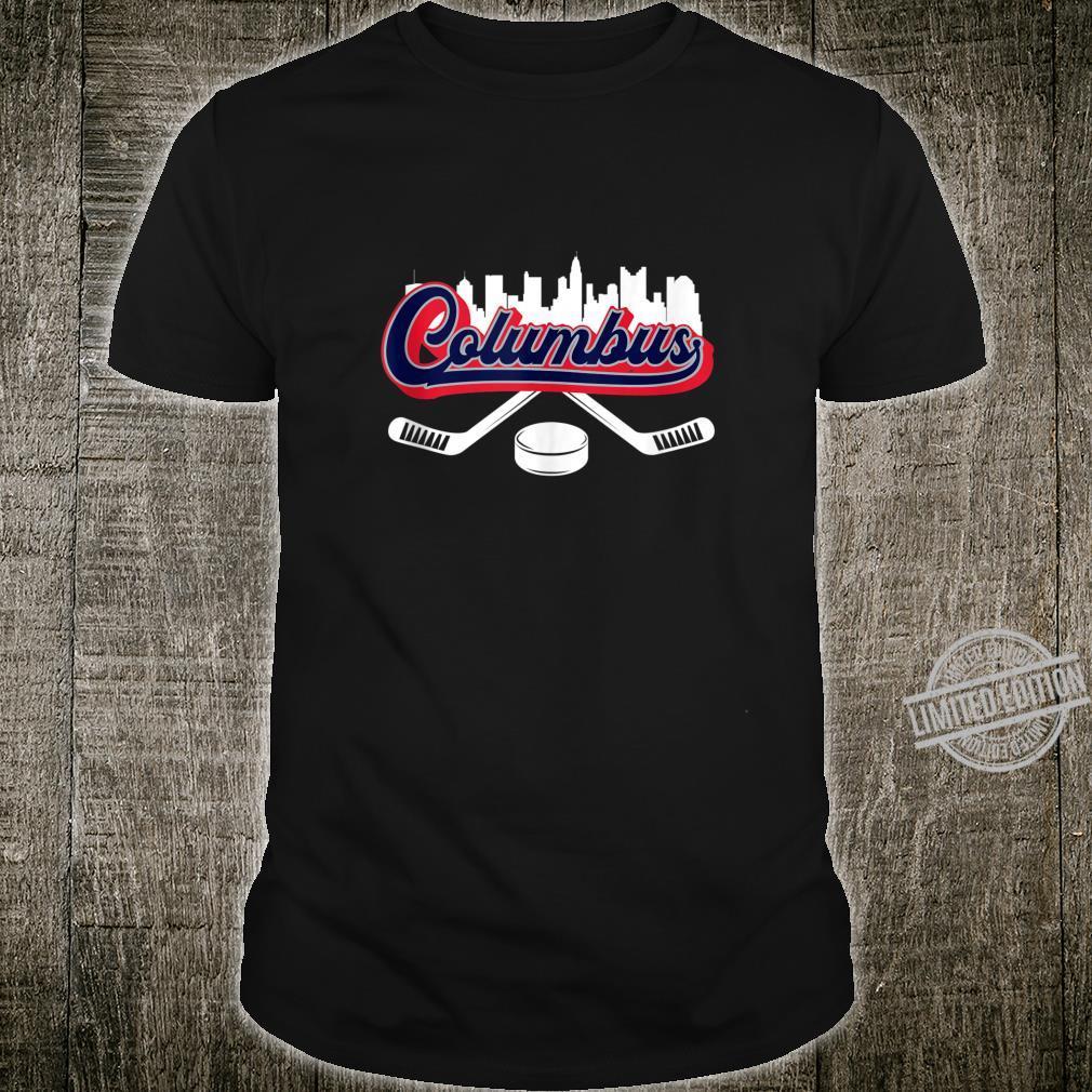 Columbus Vintage Retro Script City Skyline Hockey Fan Shirt