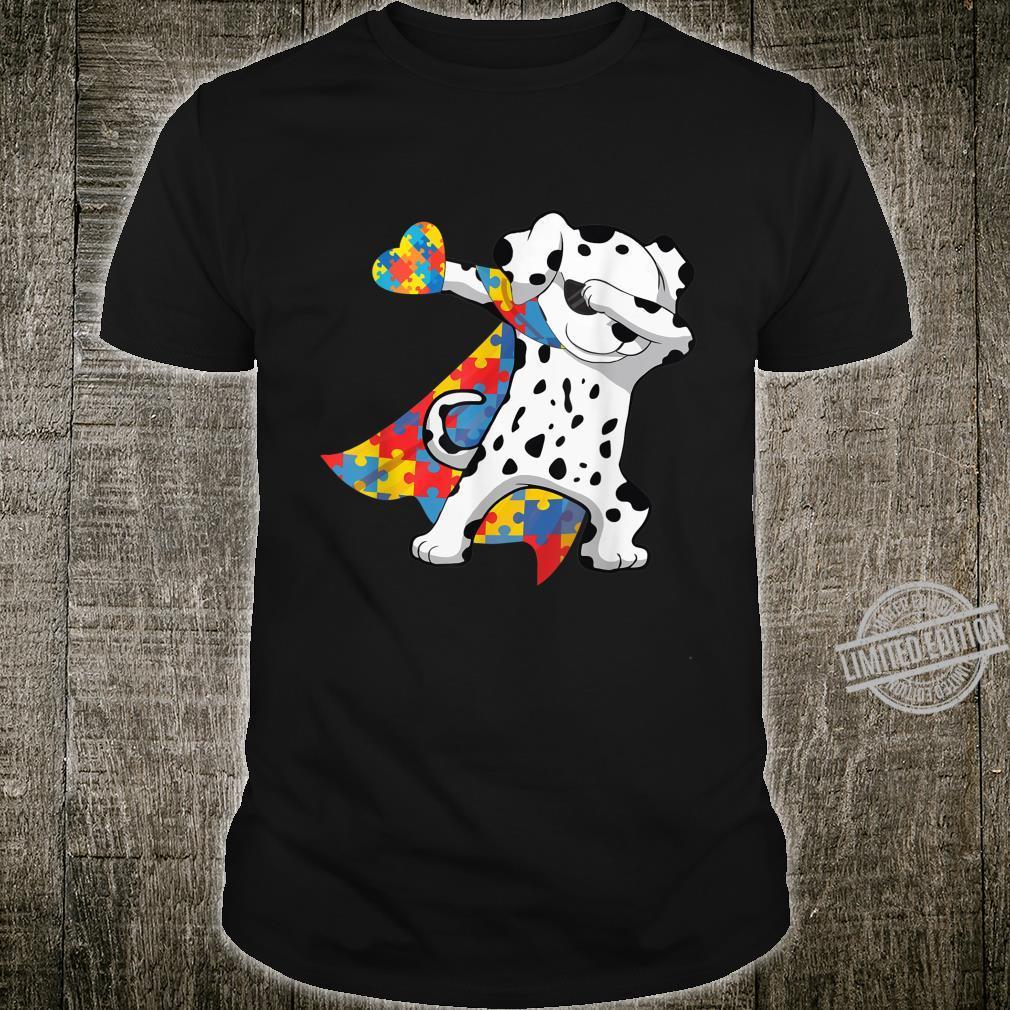 Cool Dabbing Dalmatian Autism Awareness Day Shirt