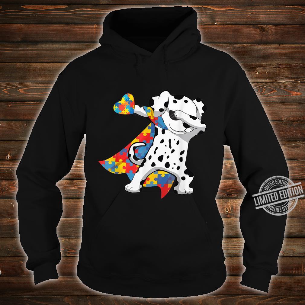Cool Dabbing Dalmatian Autism Awareness Day Shirt hoodie