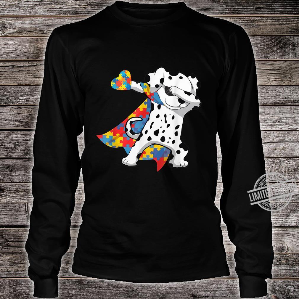 Cool Dabbing Dalmatian Autism Awareness Day Shirt long sleeved