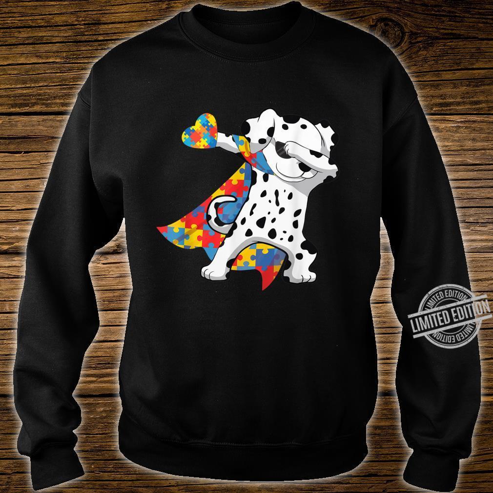 Cool Dabbing Dalmatian Autism Awareness Day Shirt sweater