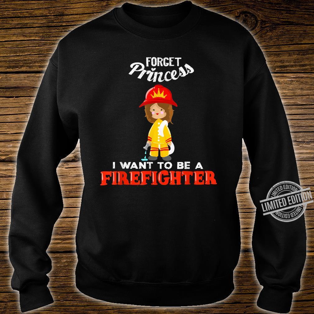 Cool Forget Princess Firefighter Fire Fan Shirt sweater