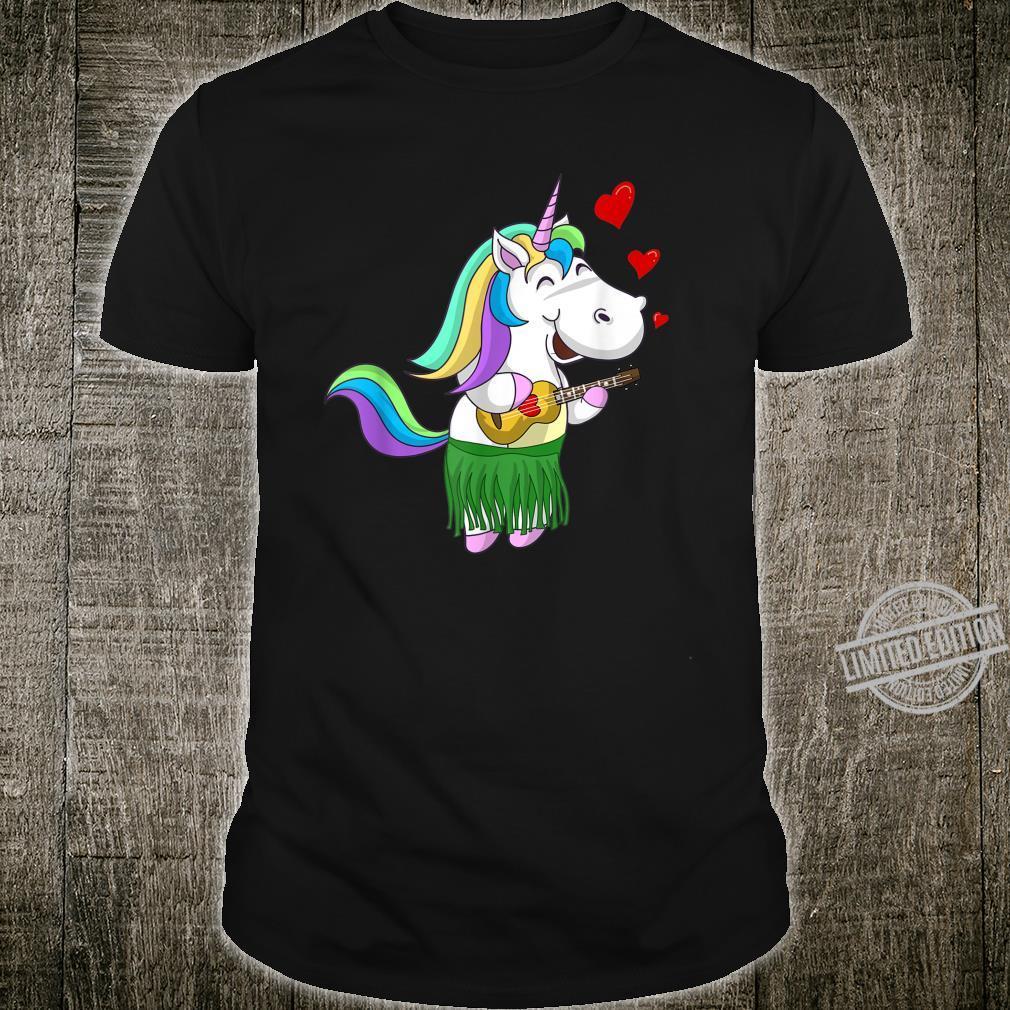 Cool Unicorn Playing Ukulele Horse Instrument Shirt